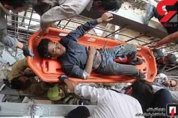 خفن ترین عکس ها از فرو رفتن میلگرد در شکم یک مرد در تهران