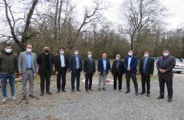 ساختمان مدیریت پارک جنگلی و نظارت منابع طبیعی و شهرداری ایزدشهر افتتاح شد/ کلنگ سردرب پارک جنگلی ایزدشهر به زمین زده شد